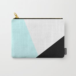 Trichromatic Aqua Blue Carry-All Pouch