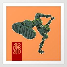 Capoeira Cyborg Art Print