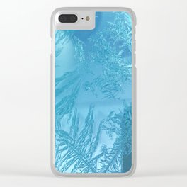 Hoar Frost: Diagonal Feathers Clear iPhone Case