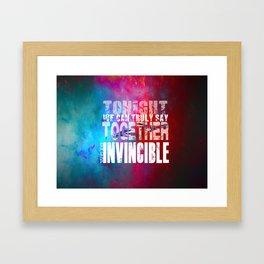 muse invincible Framed Art Print