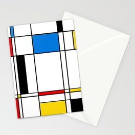 Abstract Mondriaan style abstract pattern Stationery Cards