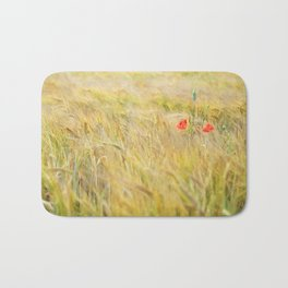 Two lonely poppies Bath Mat