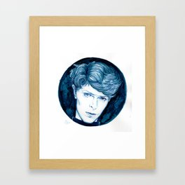 Planet Earth is Blue // Bowie Framed Art Print