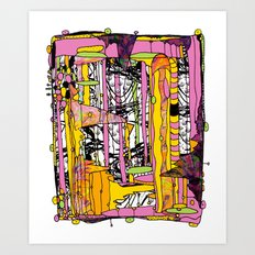 With a Twist Art Print