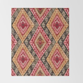 Sunset Kilim Throw Blanket