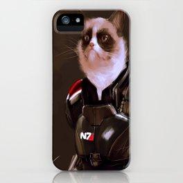 Commander Grumpy iPhone Case