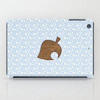 animal crossing iPad Cases featuring Animal Crossing Winter Leaf by Rebekhaart