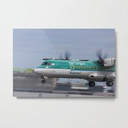 Aer Lingus Regional ATR72 Saint Cormac landing at Dublin Airport Metal Print