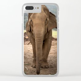 Marnie the Elephant Clear iPhone Case