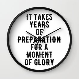 Inspirational -Prepare For Glory Wall Clock