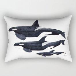Orca (Orcinus orca) Rectangular Pillow