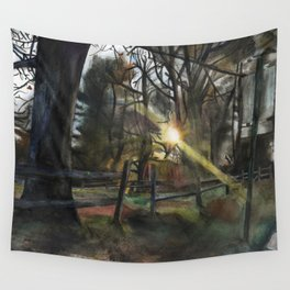 Autumnal Sunset Wall Tapestry
