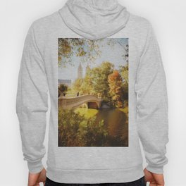 New York City - Autumn - Central Park's Bow Bridge Hoody