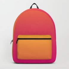 Ombre | Orange and Pink Backpack