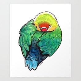 Bird no. 450: Self Care Art Print