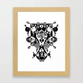 Birdies in Love Framed Art Print