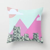 denver Throw Pillows featuring denver by marney cinclair