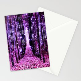 Magical Forest Pink & Purple Stationery Cards