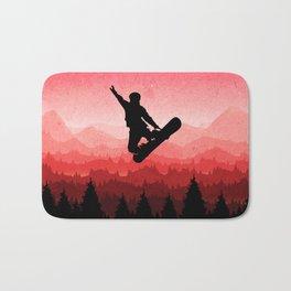 Snowboard Skyline I Bath Mat