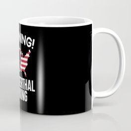 Warning Neanderthal Thinking Caveman American USA Coffee Mug