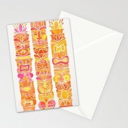 Tiki Totems – Orange Ombré Stationery Cards