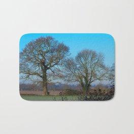 Trees on a Winter Morning  Bath Mat