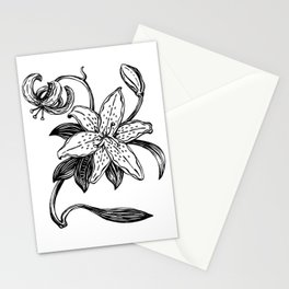 One simple lily flowers Stationery Cards