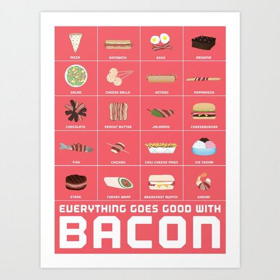 Bacon Poster Art Print