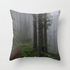 Forest of Fog Throw Pillow