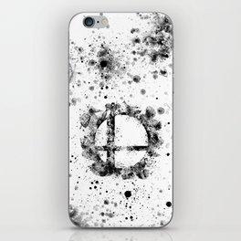 Super Smash Bros Ink Splatter iPhone Skin