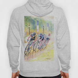 Colorful Bike Race Art Hoody