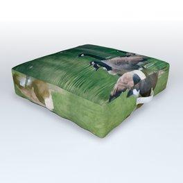 Canadian Geese - Digital Oil Outdoor Floor Cushion