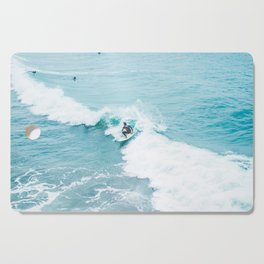 Wave Surfer Turquoise Cutting Board