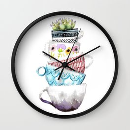 Cups on Cups on Cups Wall Clock
