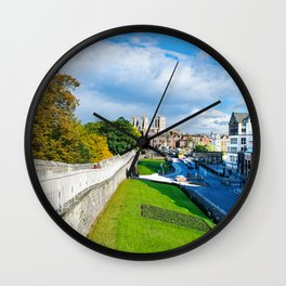 York Walls and Minster Wall Clock