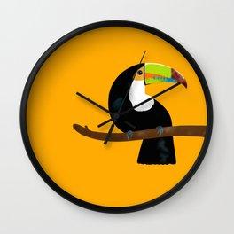 Toucan yellow Wall Clock