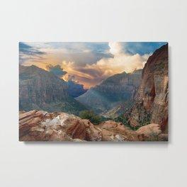 Mountain Canyon Vista Metal Print