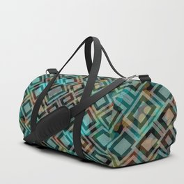 Black and White Squares Pattern 05 Duffle Bag