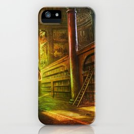 Magical Graceful Old Antique Library Witchcraft Sorcerer Globe Ultra HD iPhone Case