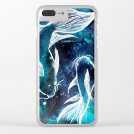 Celestial Fish Clear iPhone Case