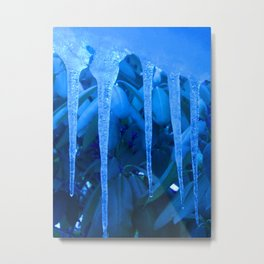 Blue Melody Metal Print