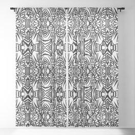 Tiki Totem Sheer Curtain