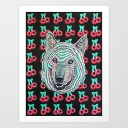 The Power Wolf Parties with God Art Print