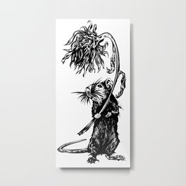 Rat with flower #1 Metal Print