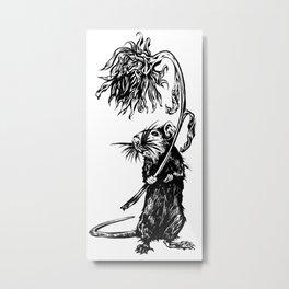 Rat with flower #1 Metal Print