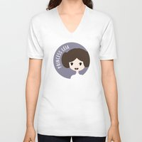 leia V-neck T-shirts featuring Princess Leia by gaps81