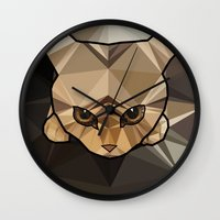 kitten Wall Clocks featuring Kitten  by Angel Decuir
