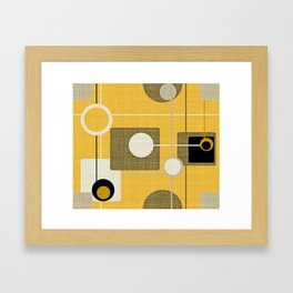 orbs and square gold yellow Framed Art Print