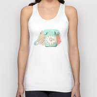 telephone Tank Tops featuring Telephone by Paint Your Idea
