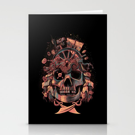 Dead Pirate's Gold Stationery Cards
